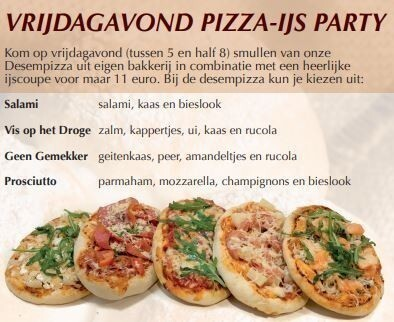 VRIJDAG PIZZA-IJS PARTY